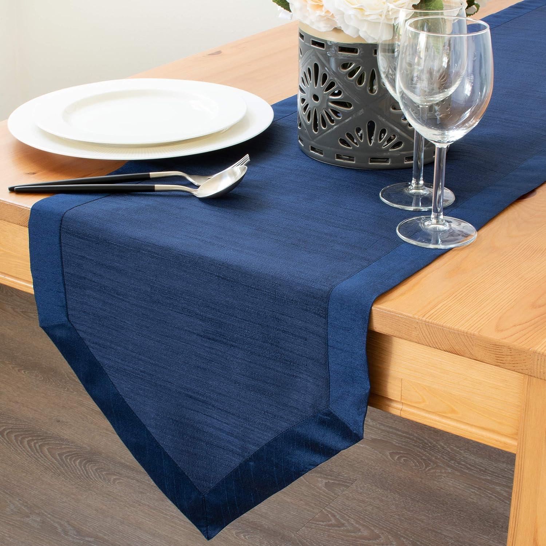 Solid Light Blue Runner Solid Navy Table Runner Solid Blue Table Runner in 4 Colors and 8 Length Options Blue Cloth Table Runner