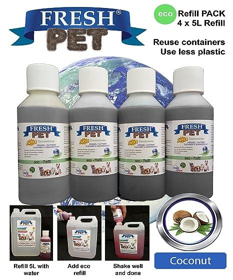 Trade Chemicals 4 x 5 L eco-recambio de mascota super concentrado