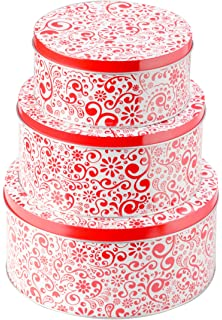 Amazoncom Round Plastic Printed Resuable Christmas Food Storage