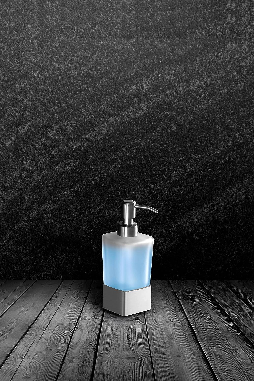 Ambrosya® | Dispensador de jabón Exclusivo Hecho de Acero Inoxidable | Cuarto de baño Soporte de Vidrio Jabonera Dispensador de Plato de jabón Inodoro ...