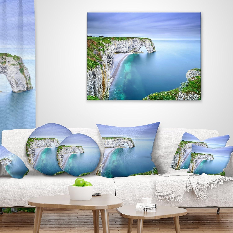 Home Kitchen Designart Cu9516 18 18 Manneporte Natural Rock Arch Throw Pillow 18 X 18 Home Décor