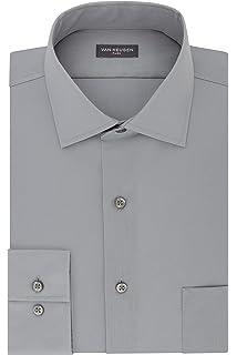 Van Heusen Mens Dress Shirt Regular Fit Flex Collar Stretch Solid Dress Shirt