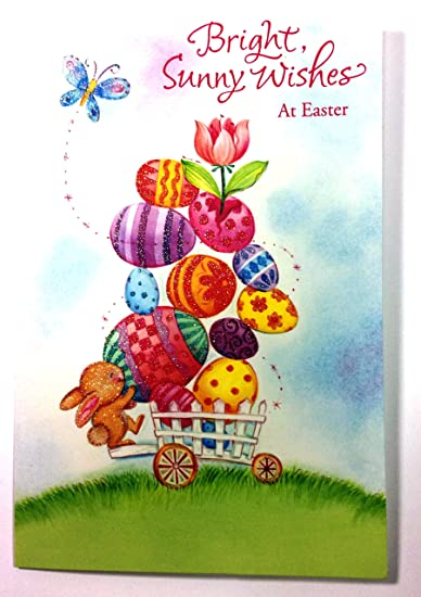 Amazon easter card for anyonebrightsunny wishes at easter easter card for anyonebrightsunny wishes at easter american m4hsunfo