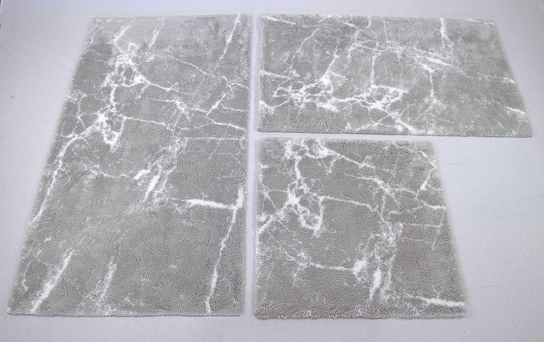 60 x 60 cm Kleine Wolke Como Badteppich Platin 100/% Baumwolle