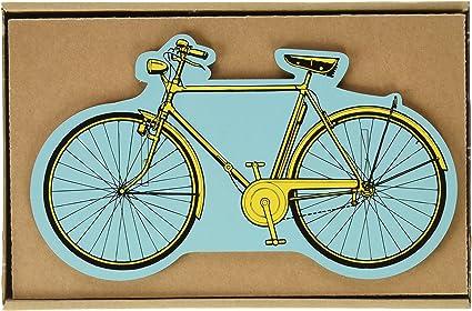 Werkhaus 3403 - Portalápices con forma de bicicleta amarilla: Amazon.es: Oficina y papelería