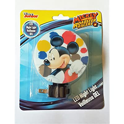 Disney Junior LED Night Light Veilleuse DEL / Disney Mickey and the Roadster Racers LED Night Light - New 2020: Baby
