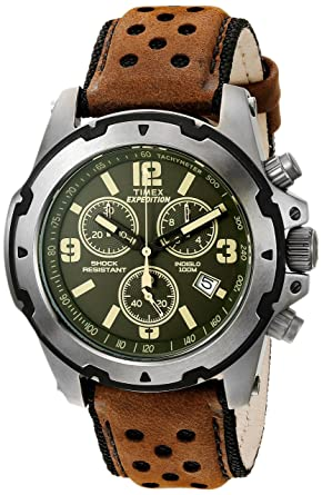 51b5e6ba05a2 Amazon.com  Timex Men s Expedition Sierra Tachymeter Shock-Resistant Green  Dial