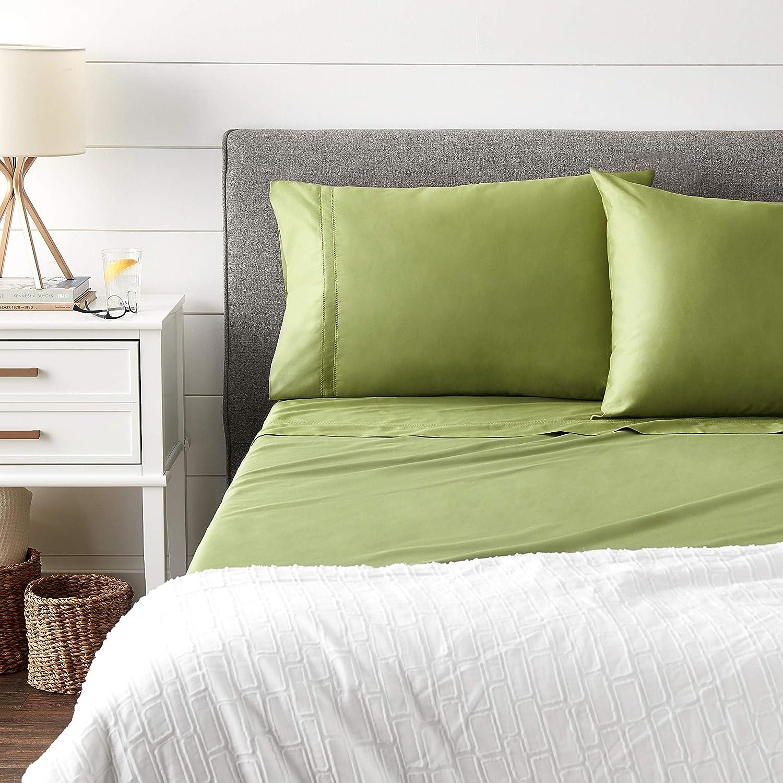Pointehaven 620TC Long Staple Cotton Oversized Duvet Set Full//Queen Moss