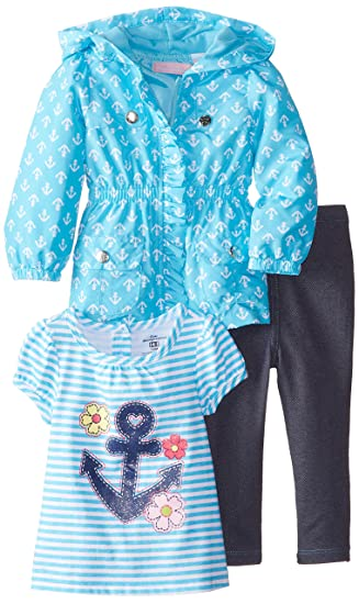 833b6f402baa Amazon.com  Kids Headquarters Baby Girls  Jacket with Tee and Jeans ...