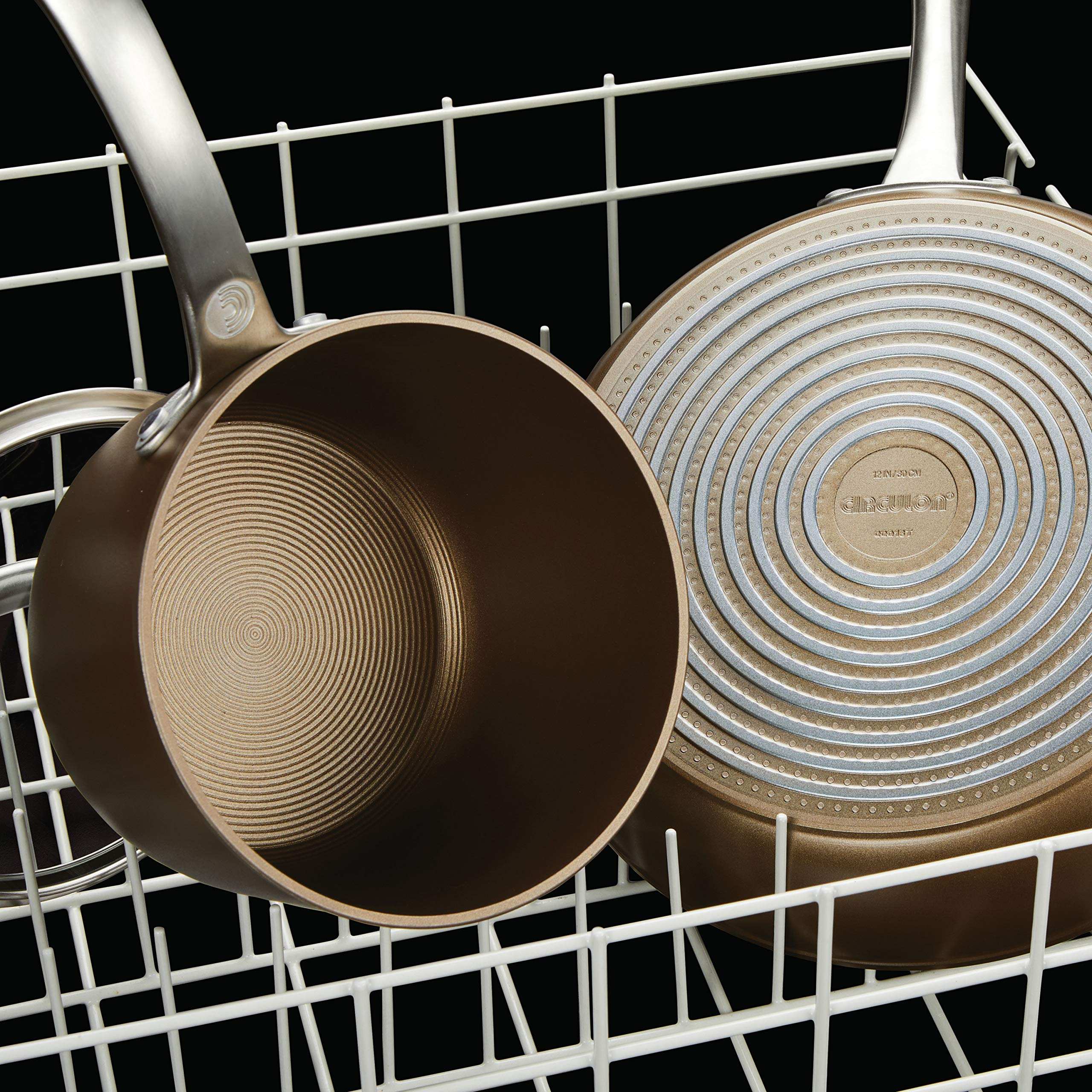 Circulon Ultimum Forged Aluminum Nonstick French Skillet Twin Pack, Nutmeg by Circulon (Image #4)