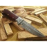 "Knife King ""Snowdown Hunter"" Custom Damascus Handmade Hunting Knife. Top Quality"
