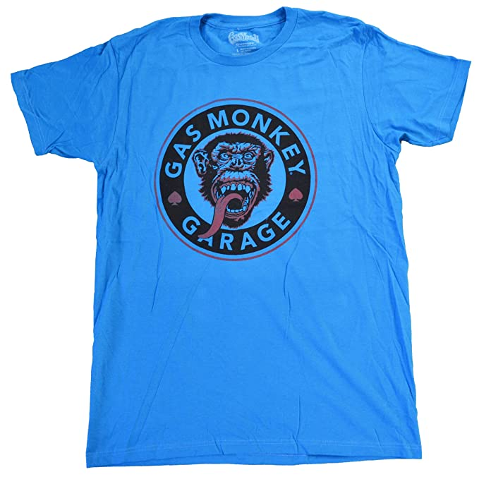 8b04a9b2 Amazon.com: Gas Monkey Men's Assorted Garage Graphic Tee Shirt (Blue ...