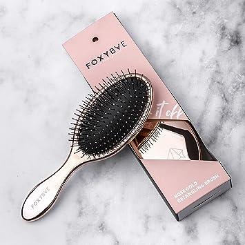 Amazon Com Foxybae Rose Gold Detangling Brush Professional Hair