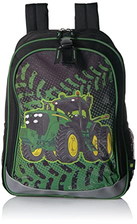John Deere Little Boys Backpack, Black, One Size