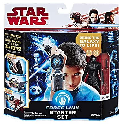 Star Wars Force Link Starter Set Including Force Link-Wear Force Link to Activate Lights Sounds and More in 30+ Toys (Motion Activated, Activate Every Force Link Figure & Lights & Sounds) New: Toys & Games