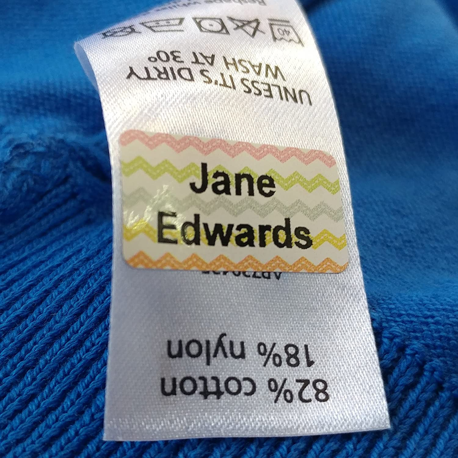 Funky Stick 'n Wash Clothing Name Labels - No Sewing, No Ironing - Just Stick in! (120 Labels)