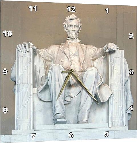 3dRose Abraham Lincoln Memorial, Washington DC – Us09 Rkl0011 – Raymond Klass – Wall Clock, 15 by 15-Inch DPP_88995_3