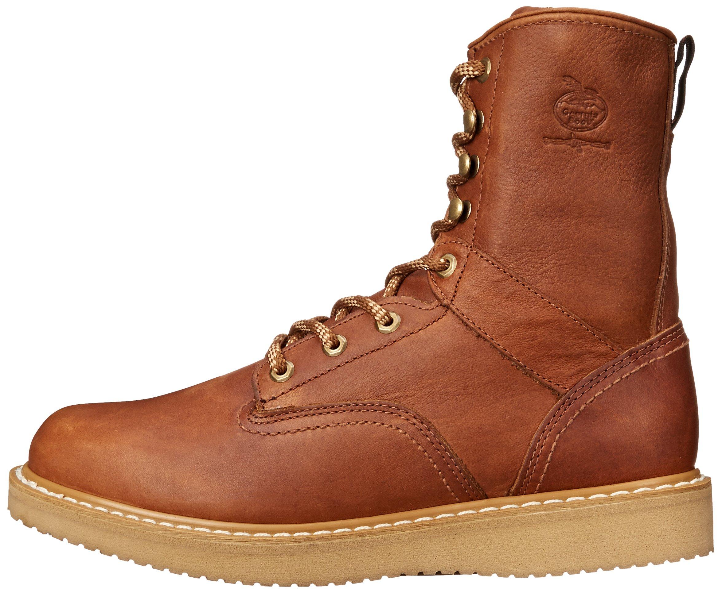 Georgia Boot Men's 8 Inch Wedge Work Shoe, Barracuda Gold, 12 W US by Georgia (Image #5)
