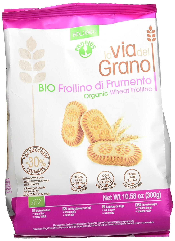 Probios La Via Del Grano Galletas de Trigo Frollino - 1 paquete: Amazon.es: Alimentación y bebidas