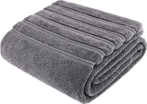 American Soft Linen 100% Turkish Genuine Cotton Large, Jumbo Bath Towel 35x70 Premium & Luxury Towels for Bathroom, Maximum Softness & Absorbent Bath Sheet [Worth $34.95] - Rockridge Grey