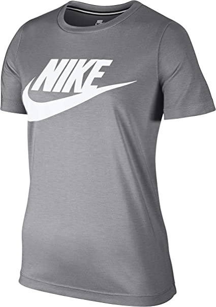 t shirt nike femme gris avec logo noir