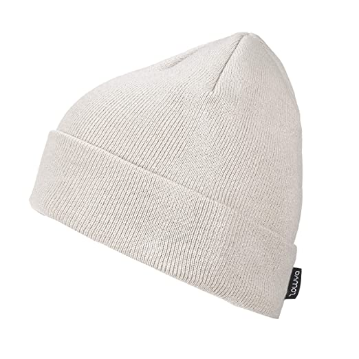 a56cd2ccb57d2 ZOWYA Classic Warm Winter Hats Knit Cuff Beanie Cap Daily Beanie Hat for Men  Women Beige