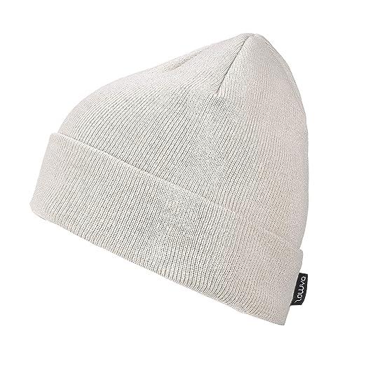 9aa9aaaa695 ZOWYA Classic Warm Winter Hats Knit Cuff Beanie Cap Daily Beanie Hat for  Men Women Beige