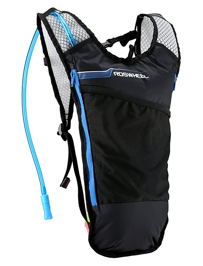 Amazon.com : Roswheel 15937 Lightweight Hydration Backpack Camel Pack with 2L Water Bladder for Biking, Cycling, Running, Hiking, Camping and Skiing, ...