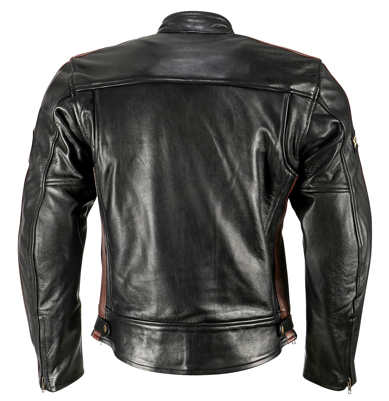 XLS Motorradjacke Classic One fü r Herren schwarz Retro