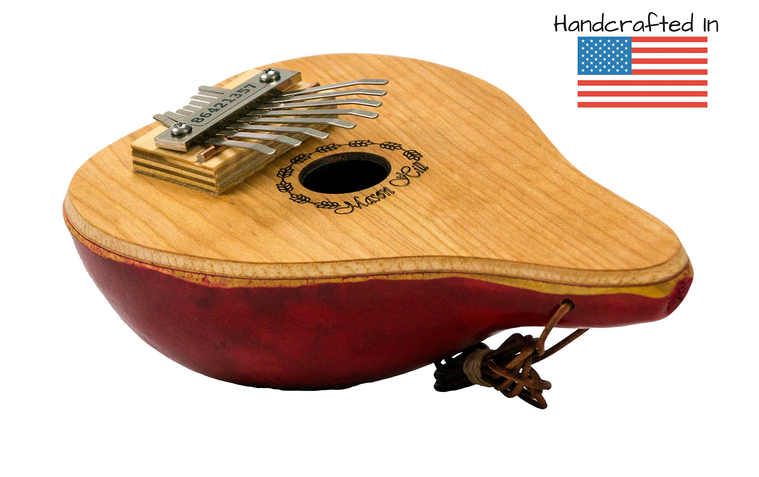 Mason Hill Music Gourd Kalimba Thumb Piano – Handcrafted in the USA