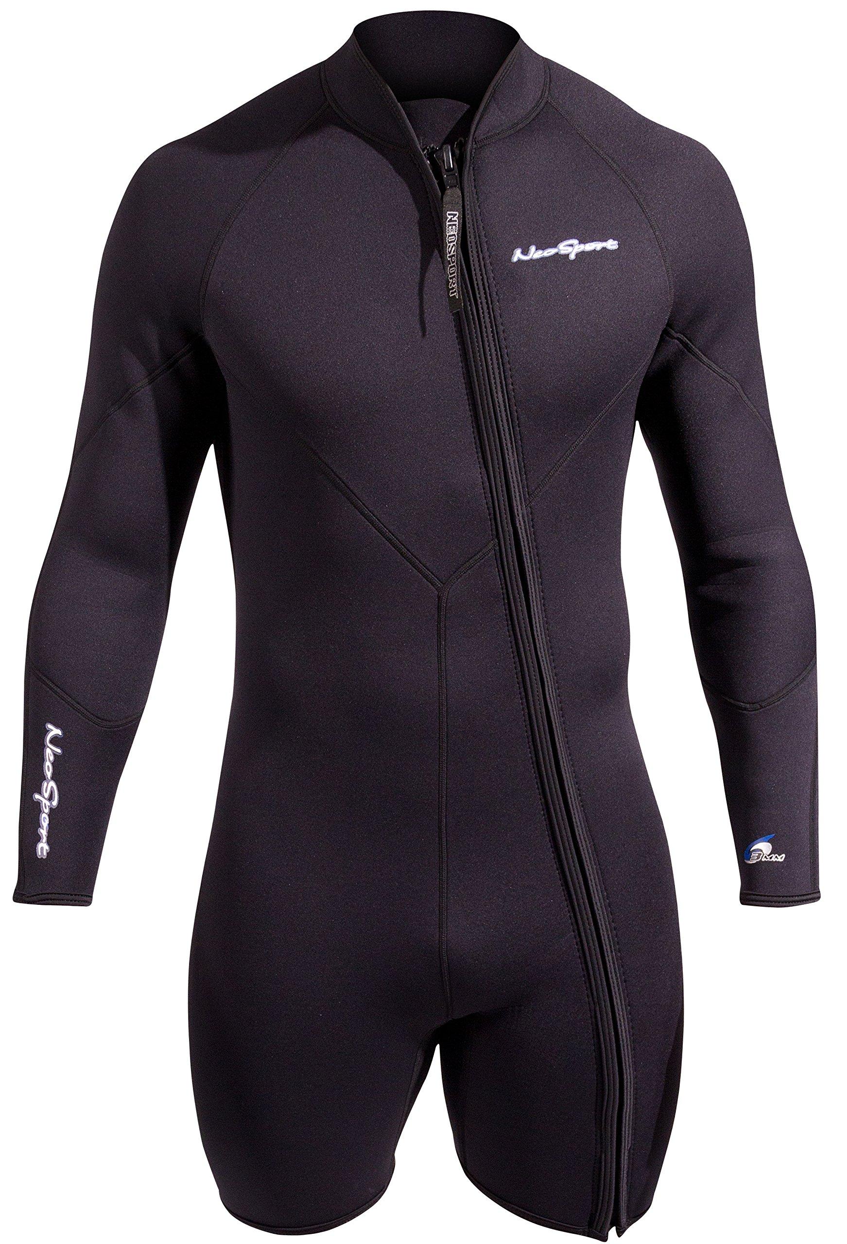 NeoSport Men's Premium Neoprene 3mm Waterman Wetsuit Jacket, 3X-Large