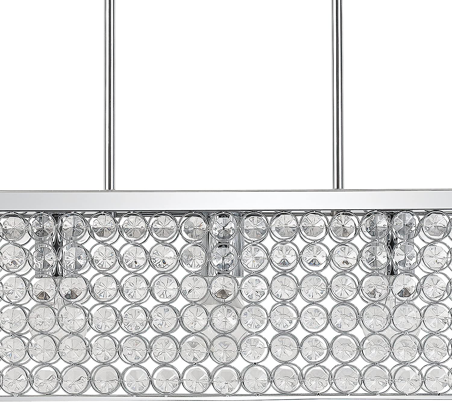 Globe Electric 65142 Linear Hanging Pendant-Light with Caged Crystal Shade 23