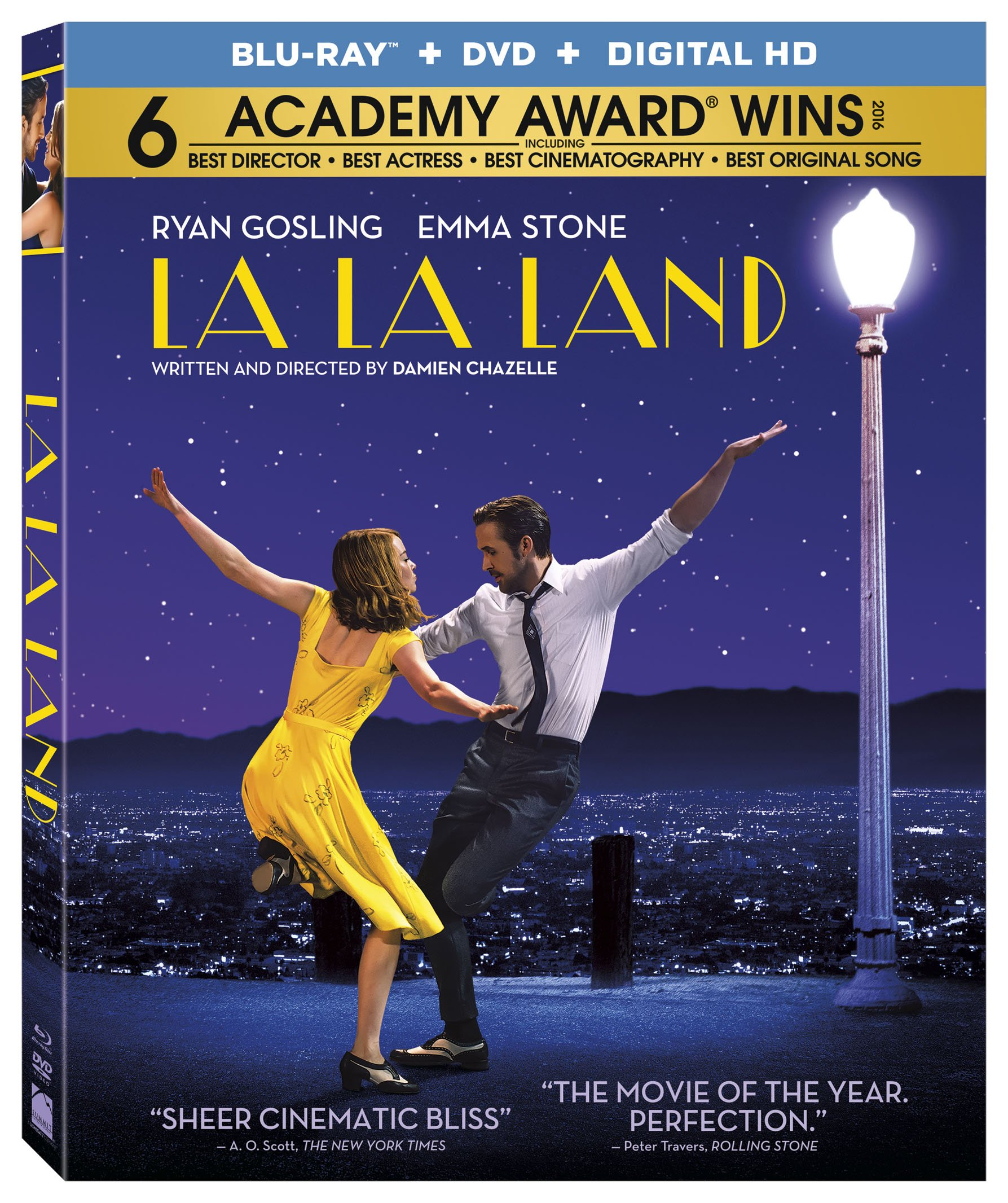 Blu-ray : La La Land (With DVD, Ultraviolet Digital Copy, Digitally Mastered in HD, Widescreen, Dolby)