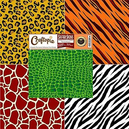 Amazon Safari Patterned Vinyl Sheets Animal Prints 4040 Pack Extraordinary Pattern Sheets