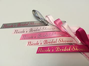 Exceptional 100 Personalized Custom Printed Ribbons Weddings Bridal Baby Showers