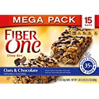 2-Pk Fiber One Chewy Bars Oats and Chocolate, 15 Bars 21.2 oz