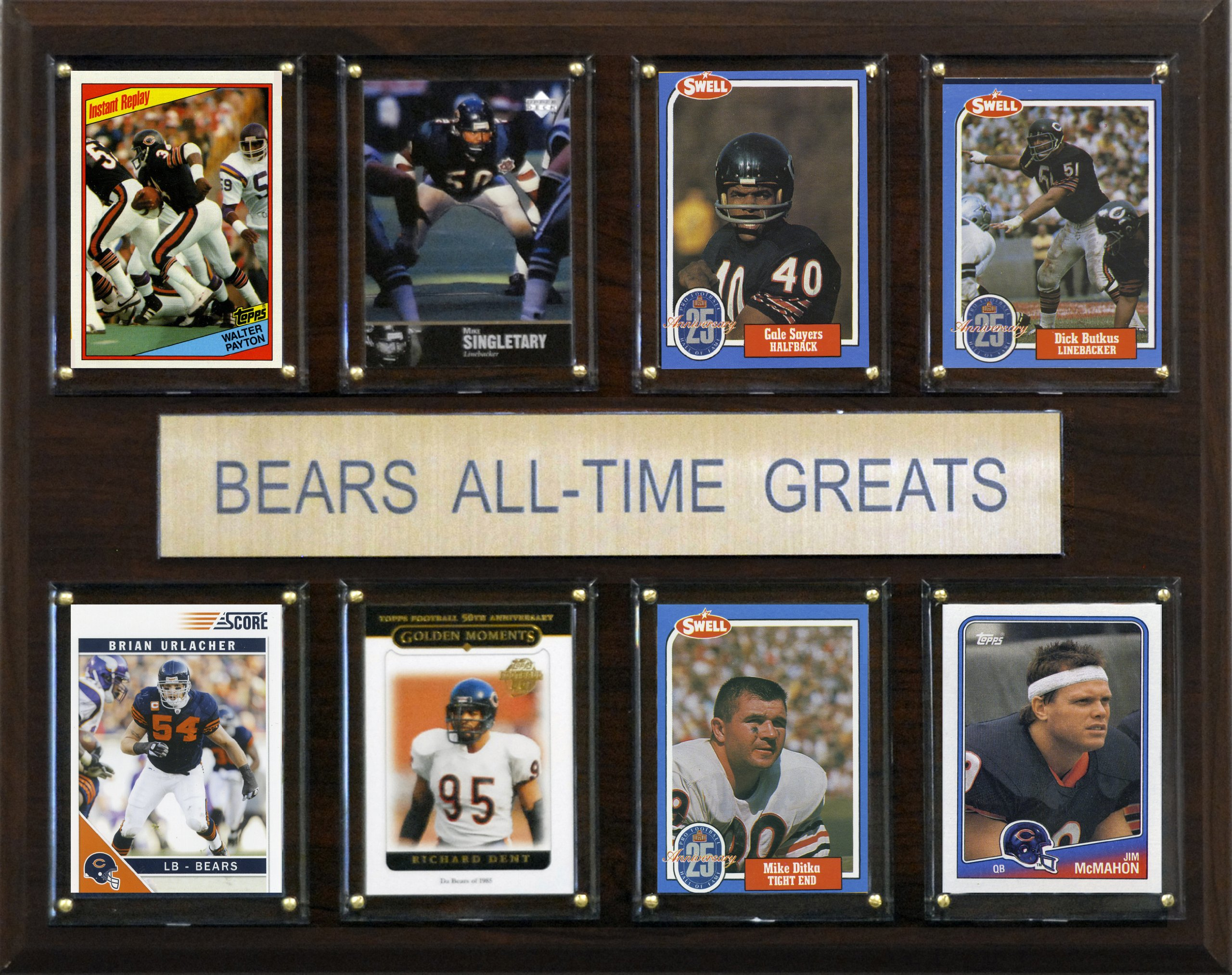 NFL Chicago Bears All-Time Greats Plaque by C&I Collectables