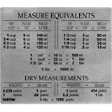 Norpro 3062 Stainless Steel Measure Equivalent Magnet