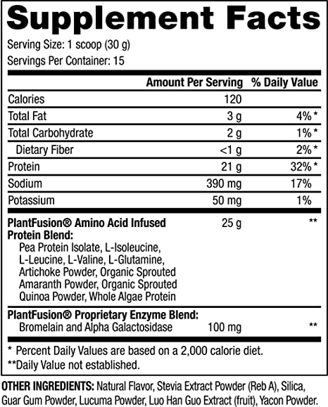 Amazon.com: Suplemento de dieta de Plant Fusion, SP91/24 1 ...