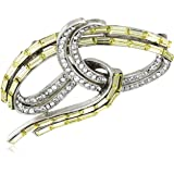Ben-Amun Yellow Deco Collection Crystal New York Fashion Jewelry Earrings Brooch Necklace