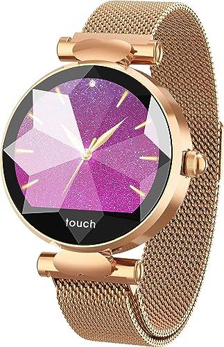 RanGuo - Reloj Inteligente para Mujeres y niños, Deportes al Aire Libre Bluetooth Smart Watch