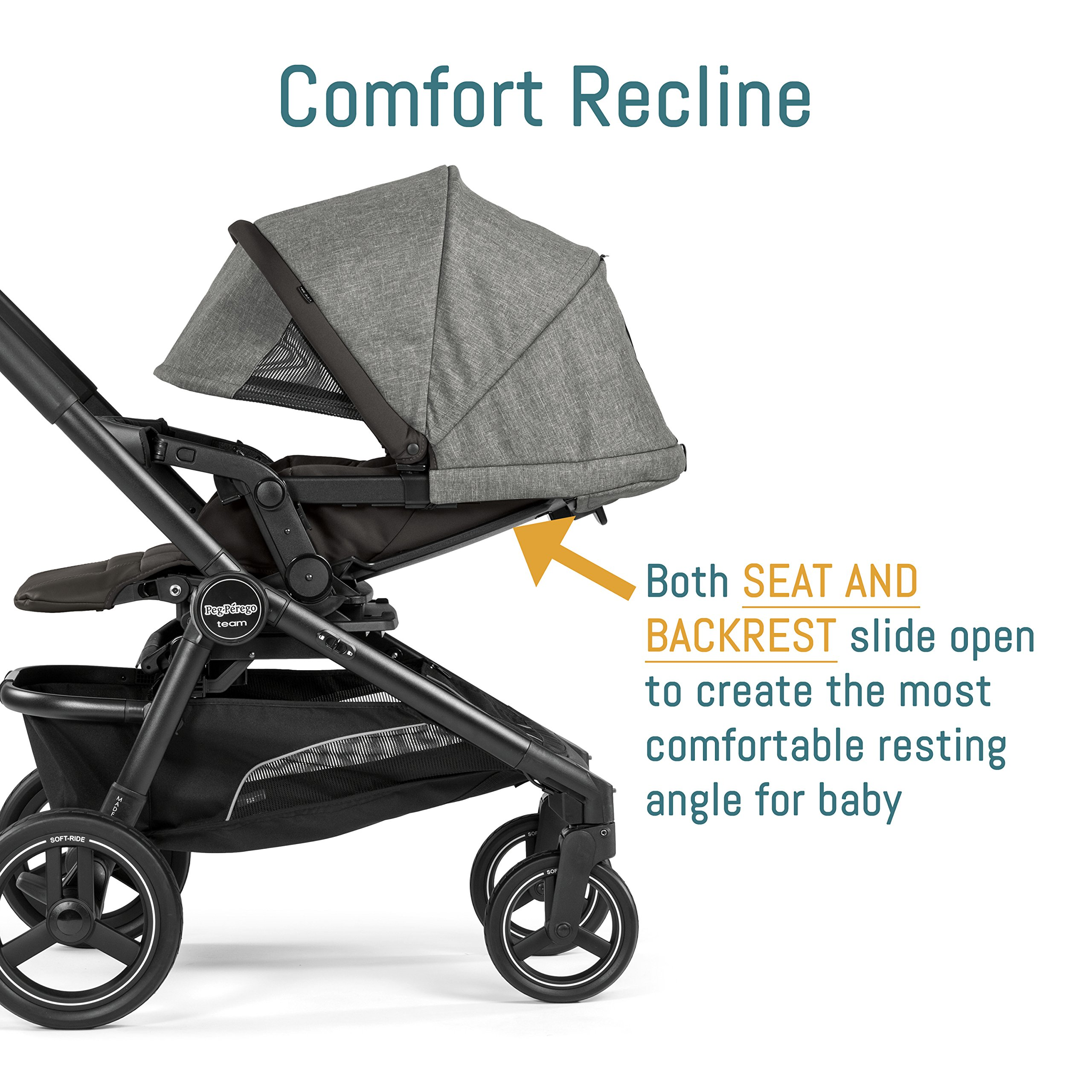 Peg Perego Pop-Up Seat for Team, Duette and Triplette Strollers, Atmosphere by Peg Perego (Image #5)