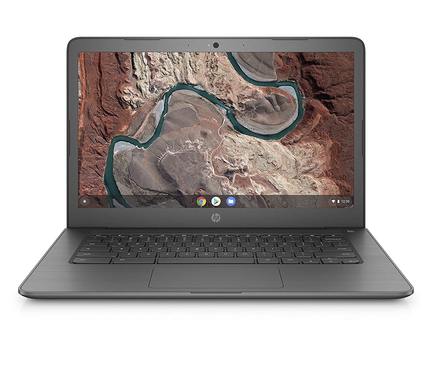HP Chromebook 14-inch Laptop with 180-degree Hinge, AMD Dual-Core A4-9120 Processor, 4 GB SDRAM, 32 GB eMMC Storage, Chrome OS (14-db0020nr, Chalkboard Gray)
