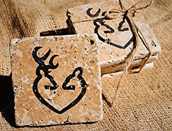 Browning Home Decor, Browning Coasters, Set Of 4 Browning Coasters