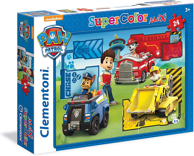 s s Clementoni 24048 Puzzle Rompecabezas para Suelo, Dibujos, Preescolar, 3 a/ño Rompecabezas 5 a/ño , Multicolor