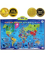 BEST LEARNING i-Poster My WORLD Interactive Map - Educational Talking Toy