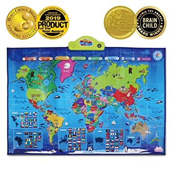 Map Of France Ks1.Best Learning I Poster My World Interactive Map Educational Talking Toy For Boys And Girls Ages 5 To 12 Years Old For Kids
