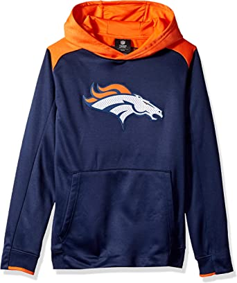 Team Color Kids Medium NFL New England Patriots 4-7 Outerstuff Off The Grid Performance Pullover Hoodie 5-6