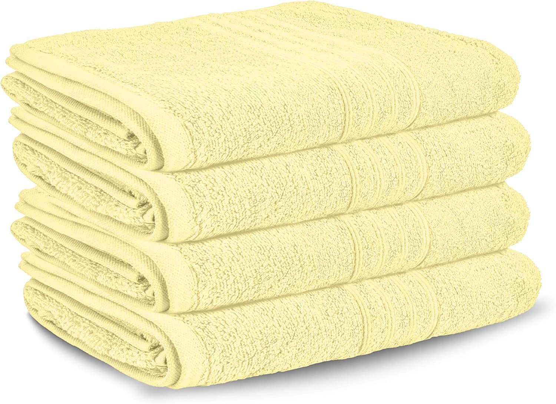 Lions Juego de Toallas, Toalla de baño para la Cara, Toalla Grande, 100% algodón Egipcio, 450 g/m², Beige, 4X Jumbo Sheets: Amazon.es: Hogar