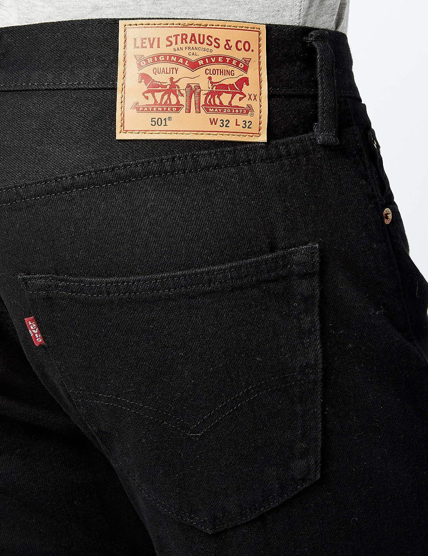 Levis 501 Levis Original Fit Vaqueros, Black 0660, 33W / 32L para Hombre